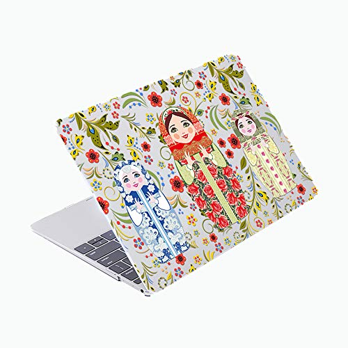 SDH Case Compatible Older for MacBook Pro Retina 13 inch (Release 2015-end 2012),Plastic Pattern Hard Shell & Gradient Keyboard Skin Cover for Mac Book Pro 13 (Model:A1502/A1425), Fuwa 6