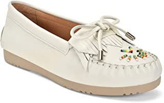 Five Tribe Women's Classic Leather Moccasin Loafer
