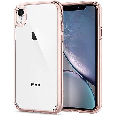 Spigen iPhone XR ケース 6.1インチ 対応 背面 クリア 透明 米軍MIL規格取得 耐衝撃 カメラ保護 衝撃吸収 Qi充電 ワイヤレス充電 シュピゲン ウルトラ・ハイブリッド 064CS24875 (ローズ・クリスタル)