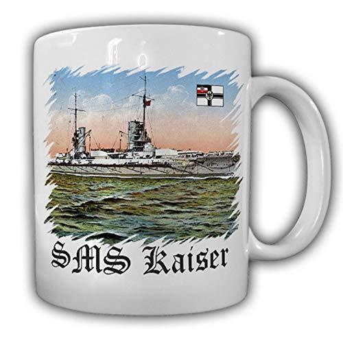 SMS Kaiser type bateau Kaiser Classe bataille dans en marine impériale de Bateau de la Kaiserliche Chantier naval Kiel 1911 de Course empilable – Tasse à café # 16955
