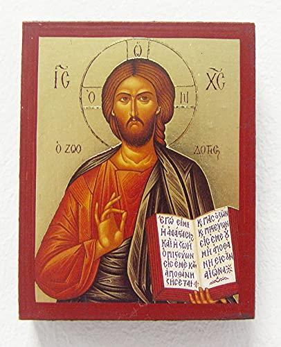 Griekse icoon van Christus ca. 7 x 9 cm