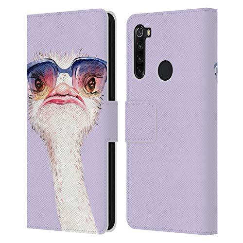 Head Case Designs Licenza Ufficiale Kristina Kvilis Viola Occhiali da Sole Savanna Cover in Pelle a Portafoglio Compatibile con Xiaomi Redmi Note 8T