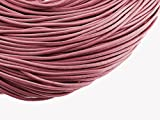 2 m echtes Lederband altrosa 2 mm von Vintageparts, DIY-Schmuck