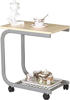 ZXQZ Table Basse Table à thé Mobile à roulettes Table Basse créative à Balcon 2 Couleurs en Option Bureau Pliant (Couleur...
