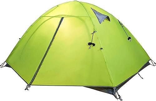 BLWX-tent Camp Account Double-Pole Pole en Aluminium Coupe-Vent et antipluies réglé hommeuellement 210x110cm Tente (Couleur   Vert)