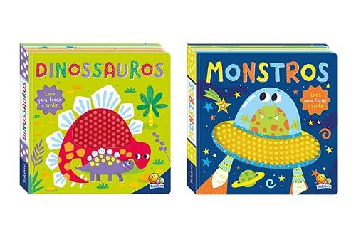 Coleção de Livros na Ponta dos Dedos - 2 volumes: Dinossauros + Monstros