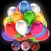 Dieser Luftballon mit LED ist aus hochwertige Latex gemacht, nicht leicht zu beschädigen. Kann mit Helium oder Luft gefüllt werden, wie einen normalen Luftballon aufzublasen. Der größte Durchmesser des Luftballons nach dem Aufblähen ist 30cm,50 versc...