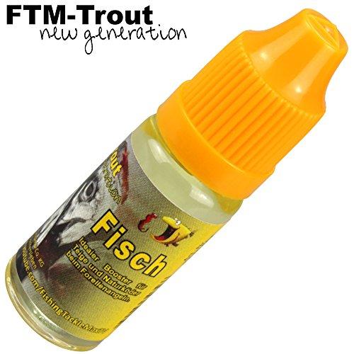 FTM Fischöl 10ml - Fischlockstoff zum Angeln auf Forellen, Lockstoff zum Forellenangeln, Lockmittel zum Anlocken von Fischen