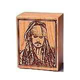 Caja de música de piratas del Caribe Caja de juguete Caja de juegos de juguete Reloj de madera Davy Jones Music Box Baby Kids Girl Navidad, Año Nuevo, regalo de cumpleaños