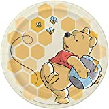 Unique Industries Winnie the Pooh - Happy Honeycomb Lunch Plates (8 pcs - 9 Inches)
