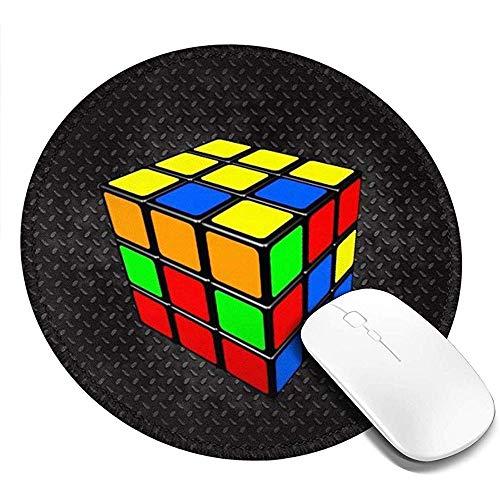 Alfombrilla de ratón Redonda Lavable   Alfombrilla de ratón para Juegos de impresión con Cubo Rubik   Alfombrilla de Goma Antideslizante