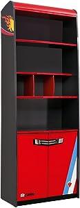 CilekRace Car Book Case GTS Book Shelf Childrens Book Case Red