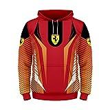 Cronell Story Unisex Langarm Hoodie 3D Digital International Feri Logo Print Sweatshirt Lässiges Sweatshirt (1,4XL)