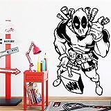 Tianpengyuanshuai Adesivi murali mobili in PVC per camerette per bambini30x48cm