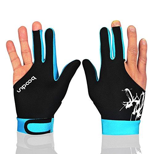 Anser M050912uomo donna elastica lycra 3dita Show Shooters guanti per biliardo Carambola biliardo sport–indossare sulla mano destra o sinistra 1PC