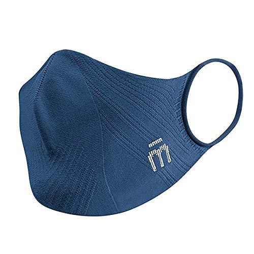 MICO P4PMASK Blu, Mascherina Sportiva Riutilizzabile Leggera, Mascherina Uomo e Donna ergonomica, Senza Cuciture, Mascherina Lavabile Asciugatura Rapida, Training Mask Sportiva, Taglia L