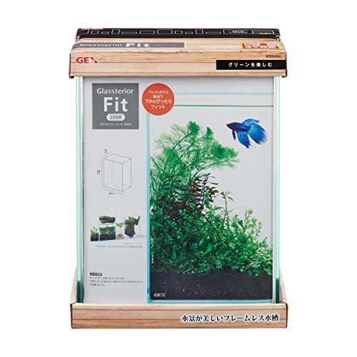 ジェックス グラステリアフィット200H フレームレス水槽 ガラスフタ付 200H
