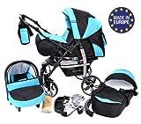 Sportive X2 - Landau pour bébé + Siège Auto - Poussette - Système 3en1 + Accessoires (Système 3en1, noir,...