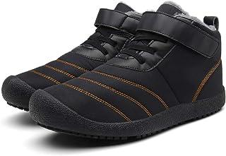 Botas Nieve para Hombres Mujer Forro de Piel Unisex Planos Cómodos Zapatillas Caminar Zapatos Ligeros Invierno