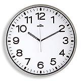 Orium 11680 - Reloj silencioso, 30 cm diámetro, color Gris