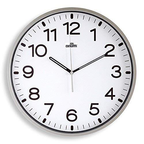 Orium 11680 - Reloj silencioso, 30 cm diámetro, color Gri