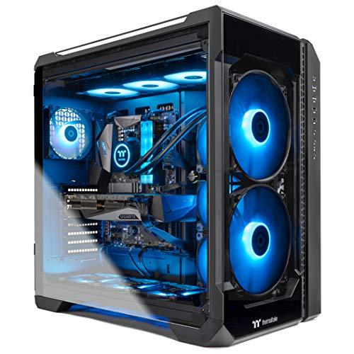 Thermaltake LCGS View 390 AIO Liquid Cooled CPU Gaming PC(AMD Ryzen 7 5800X 8-core, ToughRam DDR4 3600Mhz 16GB RGB Memory, NVIDIA GeForce RTX 3090, 1TB NVMe Gen4 M.2, Win 10 Home) V51B-X570-39V-LCS