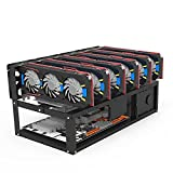 klooy Newly Professional Mining Case Rack Motherboard Bracket Stackable Steel Open Air Mining Rig Frame ETH/ETC/ZEC Ether Accessories Tools Durable Convenient for 6-8 GPU Rack Only