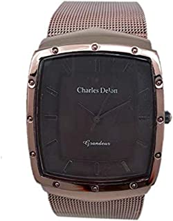 Charles Delon Mens Quartz Watch, Analog Display and Stainless Steel Strap 4992 GNNN