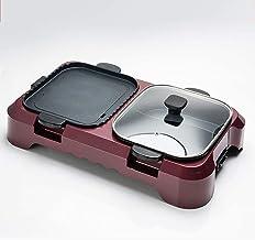 Yongqin Elektrische grill, multifunctioneel, elektrische pan en grill, alles in 1 pot, grillpan met hoge capaciteit, grill...
