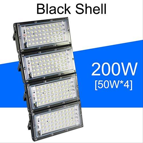 Luce di inondazione principale 50w 100w 150w 200w proiettore ac 220v 240v lampada di via a led impermeabile ip65 illuminazione esterna led blu 200w guscio nero