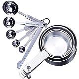 Juegos de cucharas medidoras 10 tazas medidoras y cuchara medidora de Acero Inoxidable con regla Vasos medidores medidor cucharas para cocina para Medir Líquidos y Los Ingredientes Secos