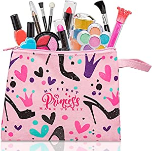 My First Princess Make Up Kit - 12 Pc Kids Makeup Set - Washable Pretend Makeup For Girls - These Makeup Toys for Girls…