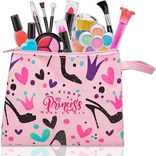 FoxPrint My First Princess Make Up Kit - 12 Pc Kids Makeup Set Washable...