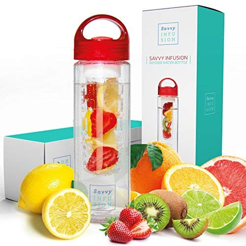 Savvy Infusion Water Bottle - 24 or 32 Ounce -...