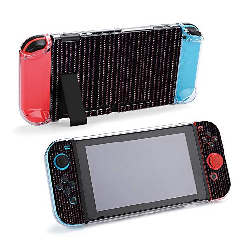 SUPNON A Red Lit String Curtain On Black Background Protective Case Compatible with Nintendo Switch Soft Slim Grip Cover Shell for Console & Joy-Con with Screen Protector, Thumb Grips Design26141