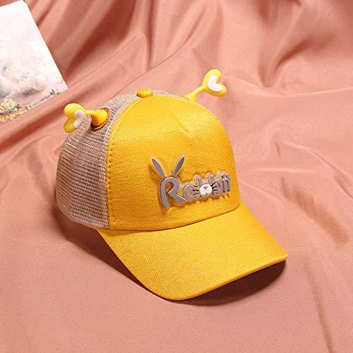 wtnhz Artículos de Moda Sombrero de Red para niños de Primavera y Verano Gorro de Conejo con Orejas de Amor Coreano Sombrero de bebé Sombrero para el Sol para niñosRegalo de Vacaciones