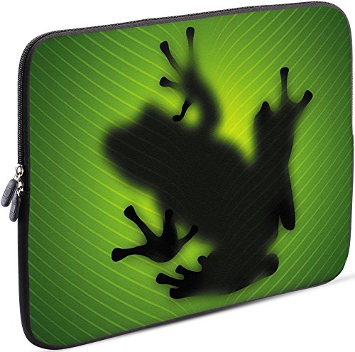 Sidorenko Laptop Tasche für 14-14,2 Zoll | Universal Notebooktasche Schutzhülle | Laptoptasche aus Neopren, PC Computer Hülle Sleeve Hülle Etui, Grün