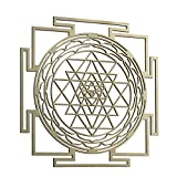 ZenVizion 13.5' Sri Yantra Wall Decor Mandala, Sacred Geometry Wall Art, Yoga Decor Wooden Art Symbol, Grystal Grid, Meditation Decor, Spiritual Decor