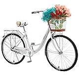 Bdgmwang Women's Cruiser Bike 26 inch Beach Cruiser Bicycles for Women Classic Retro Style Single...