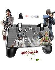 荒野行動 コントローラー【最新型一体式】PUBG Mobile 荒野行動 コントローラー 4000mAh 押しボタン&グリップのセット一体式
