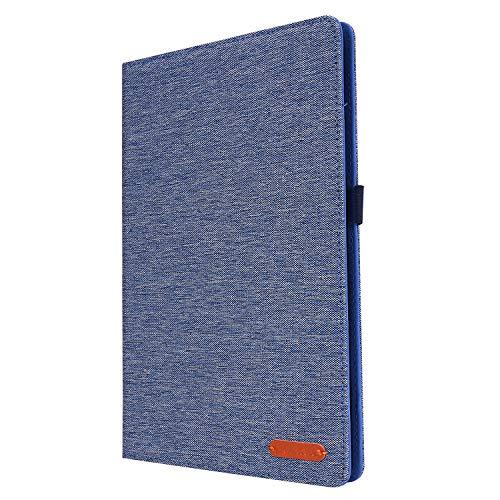 Lobwerk Funda para Samsung Galaxy Tab S6 Lite SM-P610 P615 de 10,4 pulgadas, con función atril y función de encendido y apagado automático, color azul
