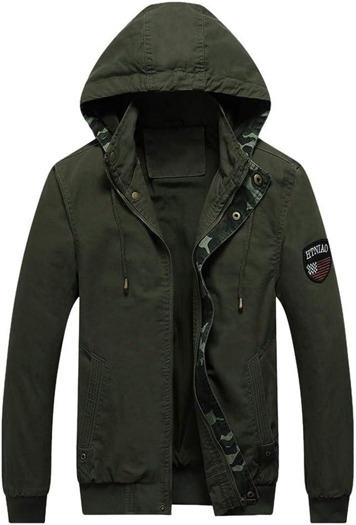 Men's Zipper Hoodies Jacket Long Sleeve Casual Warm Soft Winter Windproof Coat Outwear