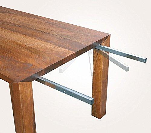 Gedotec Prolunga per piastre da tavolo orientabile per piastre aggiuntive da tavolo e estensione del tavolo   Metallo zincato   Supporto girevole con portata 80 kg   1 set
