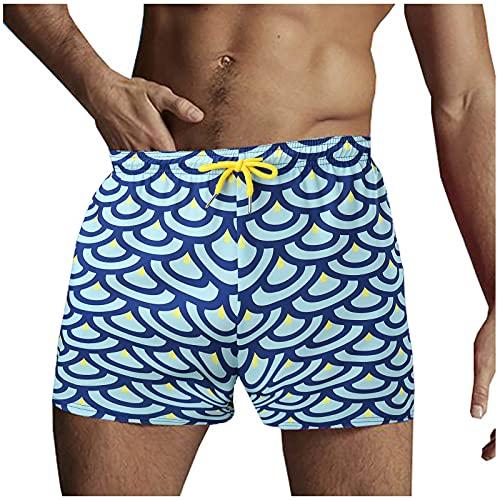 L9WEI Bañador para hombre con estampado, Hombre, azul, extra-large