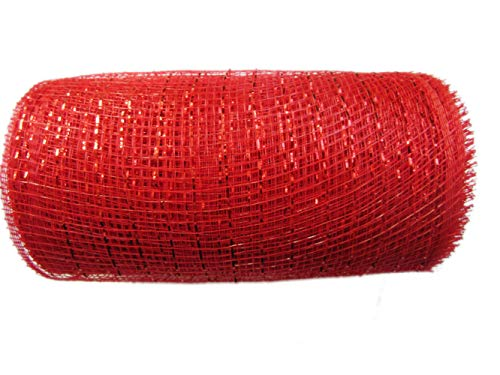 Red Deco Mesh Ribbon