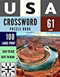 USA Crossword Puzzle Book: 100 Large-Print Crossword Puzzle Book for Adults (Book 61) (100 USA...