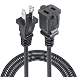 VSEER 2 Prong Extension Cord US AC 2-Prong Male and Female Power Cable SPT2 18AWG 10A/125V, USA Outlet Saver Power Extension Cord Cable for NEMA 5-15P to NEMA 5-15R (12FT)