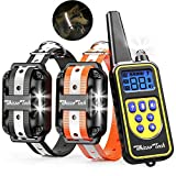 Whizzotech Dog Shock Training Collar Rechargeable Waterproof 875 Yards Remote Control E-Collar (for 2 Dogs)