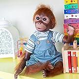 Pinky Reborn 21 Pulgadas 52cm Monkey Baby Dolls Hecho a Mano Renacer Bebé...
