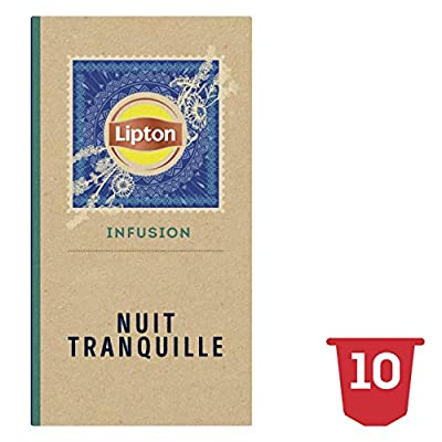 Lipton Infusions Nuit Tranquille Tilleul, Lavande et Camomille, Capsules Compatibles Nespresso 10 Capsules parent